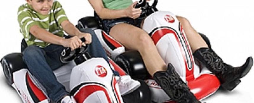 Karting gonflable Mario Kart pour gamer en herbe