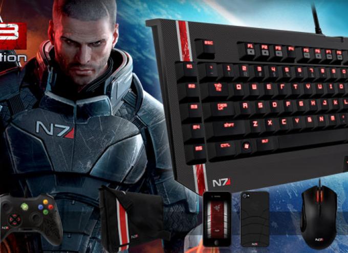 Accessoires Razer au couleur de Mass Effect 3