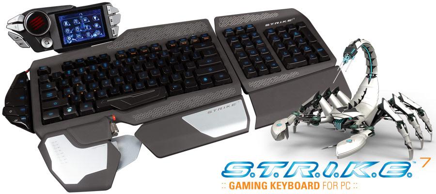 Mad Catz Cyborg S.T.R.I.K.E 7 : le clavier gamer ultime !!!