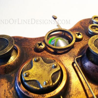 Gamepad Xbox 360 steampunk :