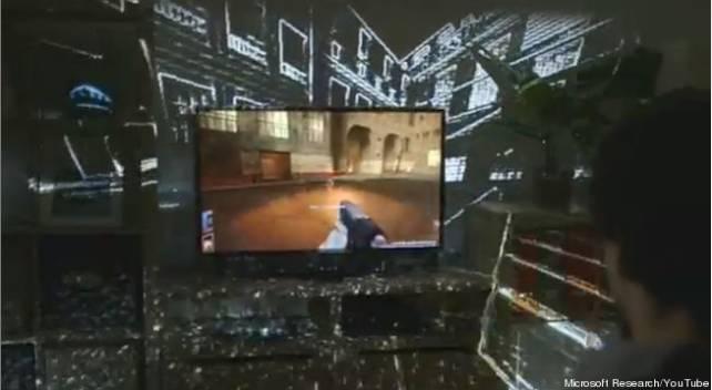 Microsoft IllumiRoom, l'accessoire Xbox 360 qu'il vous faut !