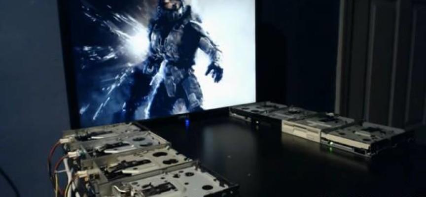 Theme Halo avec des lecteurs de disquettes