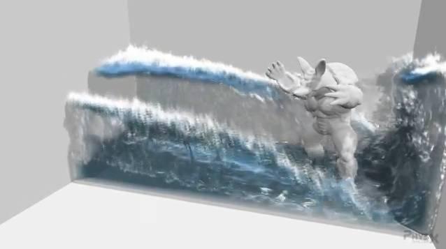 Simulation 3D des fluides