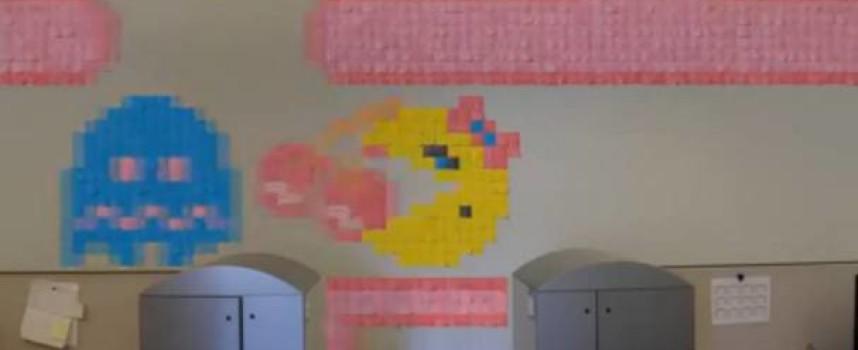 Vidéo Stop motion Miss Pacman et Donkey Kong en post-it