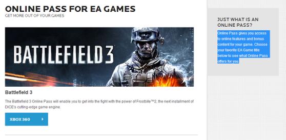 EA n'incluera plus de Pass Online dans ses futurs jeux video !