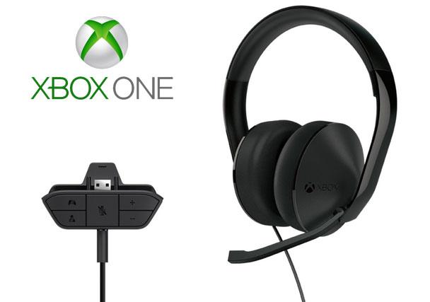 Accessoires Xbox One, un Casque et un adaptateur audio