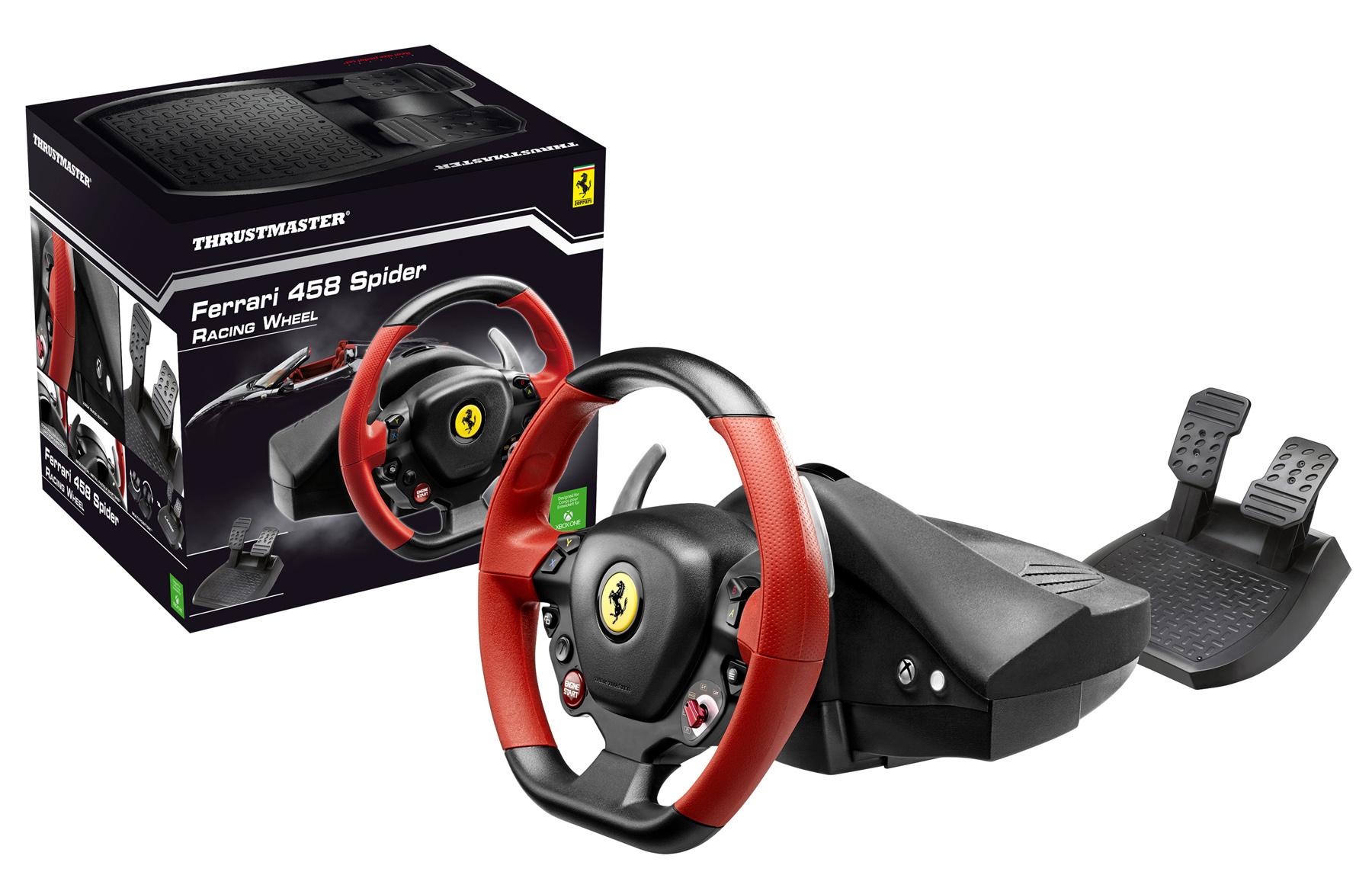 Thrustmaster Ferrari 458 Spider Racing Wheel pour Xbox One !