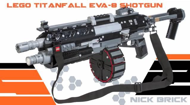 Les armes du jeu Titanfall réalisées en Lego