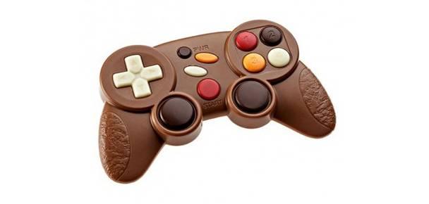 Manette et clavier en chocolat pour gamers gourmands