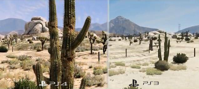 Grand Theft Auto V : Comparaison PS3 et PS4