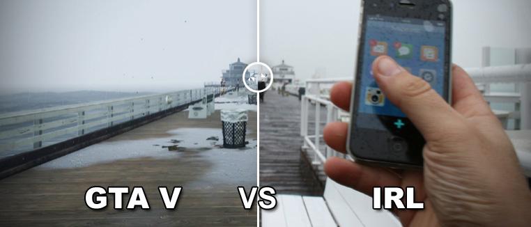GTA V : virtuel vs IRL