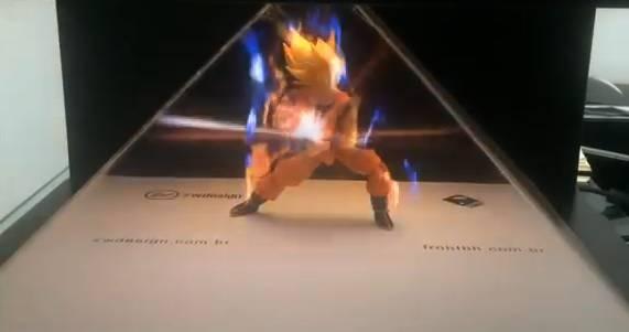 Figurine Son Goku + Kamehameha en hologramme – Dragon Ball Z