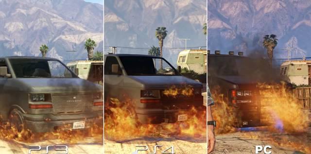 Comparaison des graphismes de GTA V sur PC 4K, PS4 et PS3