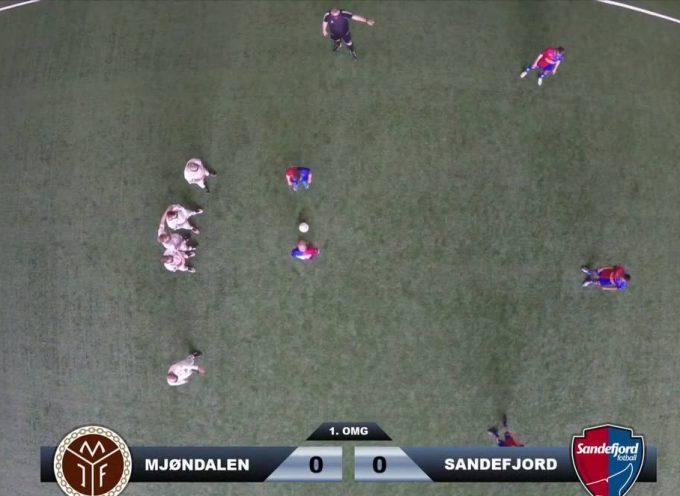 Jouer au foot en vue du dessus