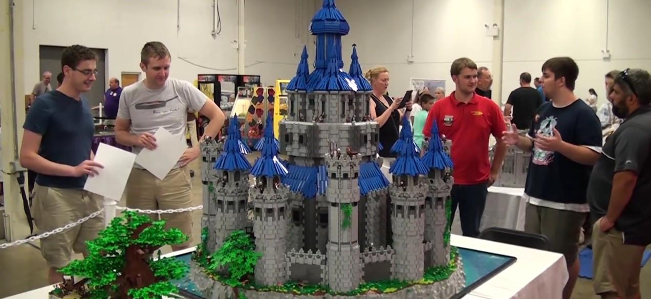 Un château en Lego inspiré de celui d'Hyrule dans Twilight Princess