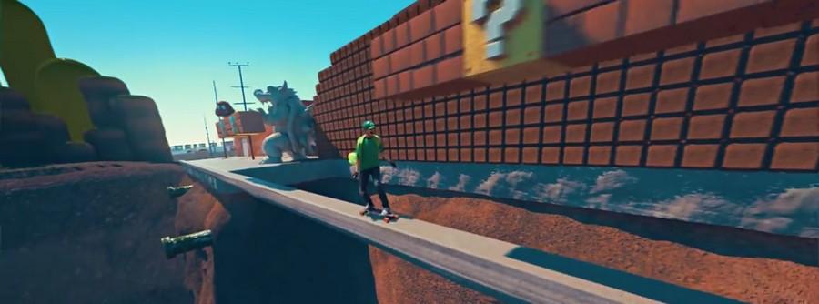 Mario Kart version Luigi Skate