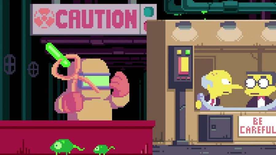 Générique pixel art Les Simpsons en 8 bits