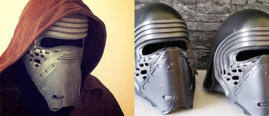 Le masque de Kylo Ren disponible en téléchargement pour une impression 3D