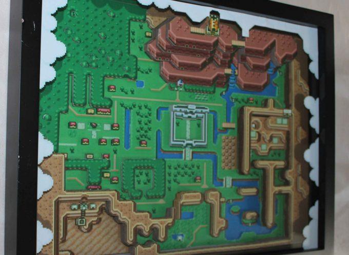 Diorama 3D en papier de Zelda A Link to the Past