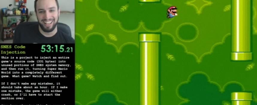 Jouer à Flappy Bird dans Super Mario World