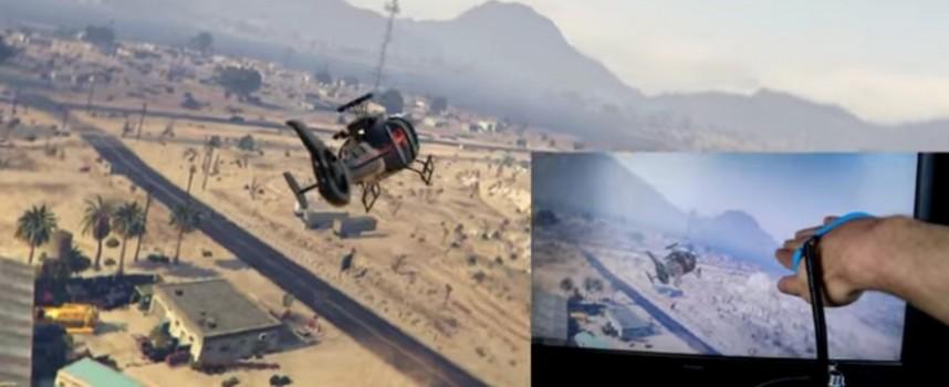 Apprendre à contrôler un hélicoptère avec la main sous GTA V.