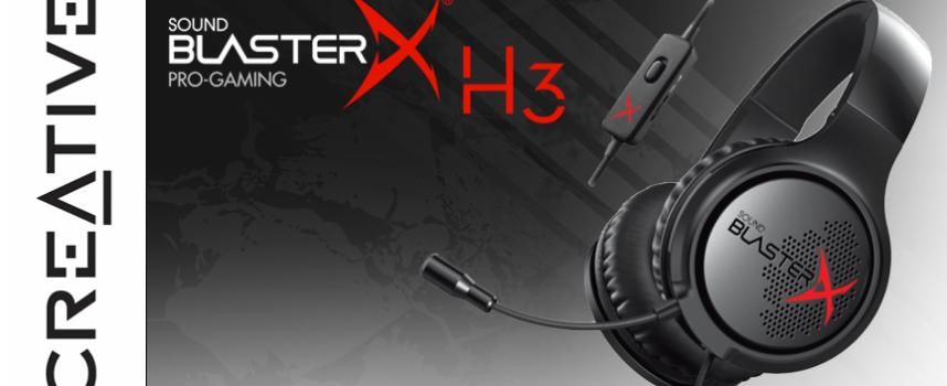 Test Creative Sound BlasterX H3 – Casque stéréo | PC / Mac / PS4 / Xbox One / Mobile