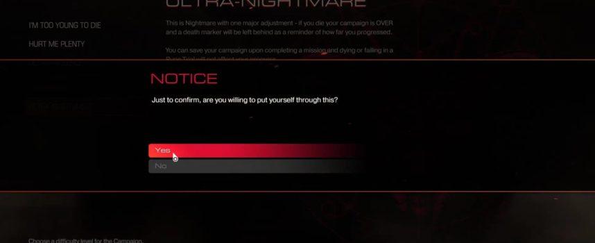 Il finit Doom 4 en mode Ultra Nightmare