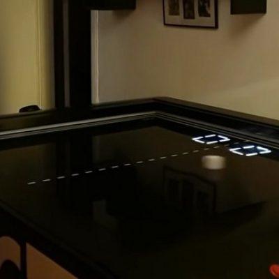 Le jeu Pong IRL en format table