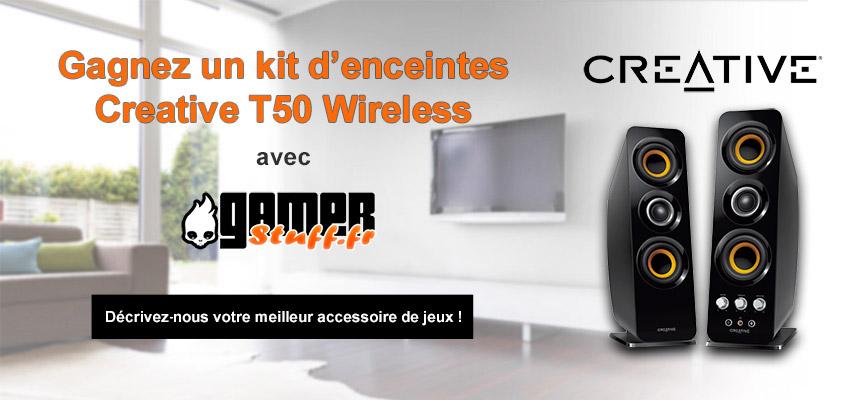 Concours GamerStuff : gagnez notre kit d'enceintes Creative T50 Wireless