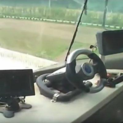En chine, on construit les ponts avec un volant de jeux vidéo