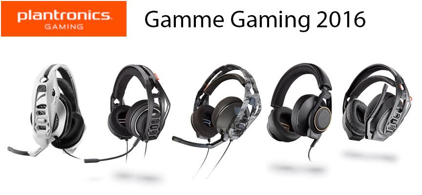PLANTRONICS annonce sa nouvelle gamme de casques gaming pour consoles