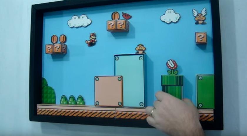 Des tableaux de jeux vidéo en 3D