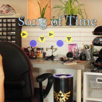Une maison pilotée avec les mélodies de Zelda jouée à l'ocarina.