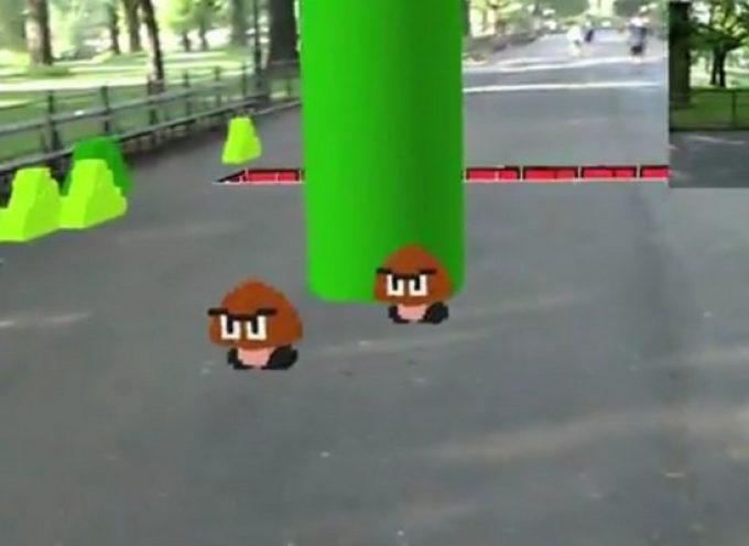 Super Mario Bros IRL grâce à la réalité augmentée