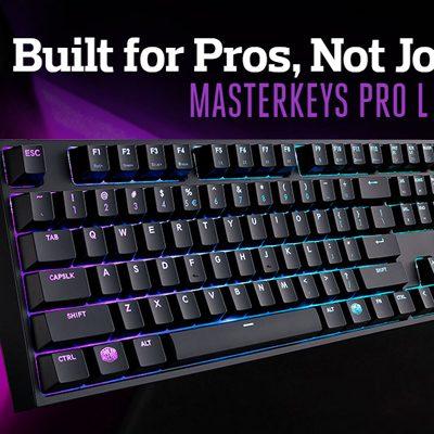 Test Cooler Master Masterkeys Pro L RGB – Clavier mécanique | PC