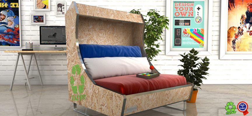 ARCADE Sofa – Un sofa qui fleure bon les années 80
