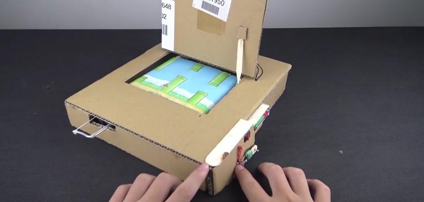 Le jeu Flappy Bird en carton