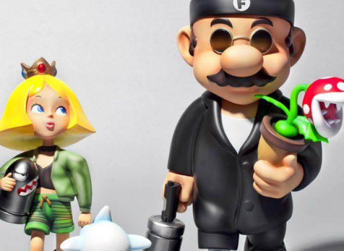 Super professional, une figurine mashup de Super Mario & Leon