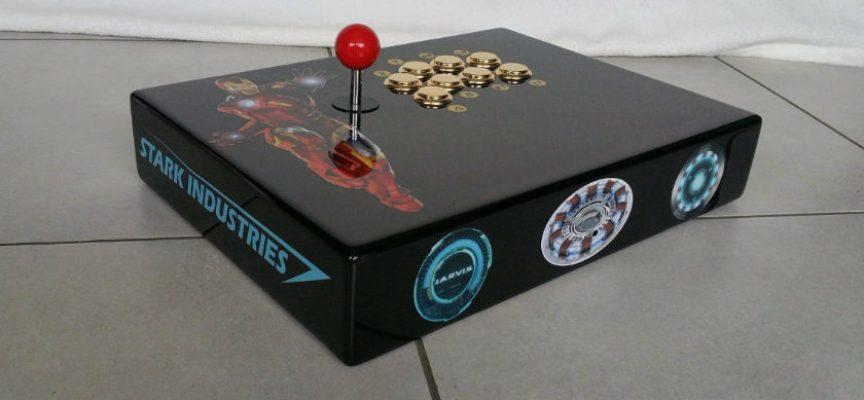 Hack manette Xbox 360 en stick arcade Iron Man