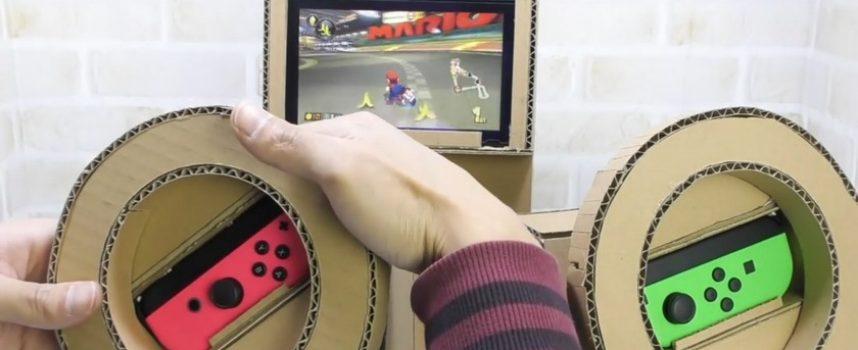 Un volant DIY cardboard pour Mario Kart 8 Deluxe sur Switch.