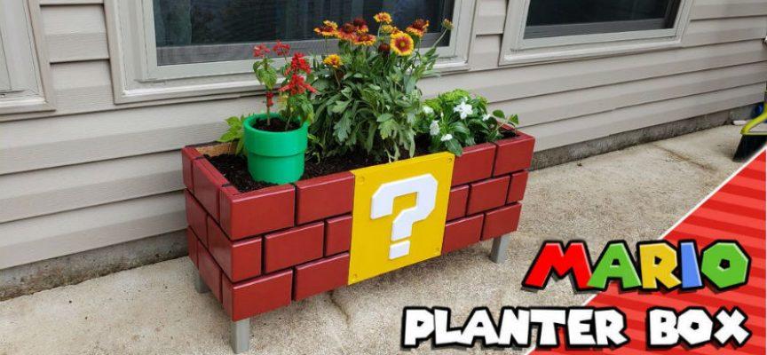 Tutorial pour fabriquer une jardinière DIY Super Mario