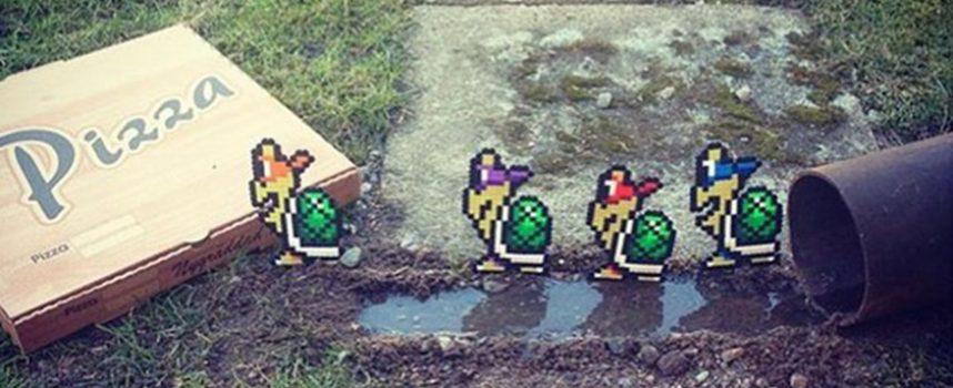 Pappasparlor, un bead sprite street artist.