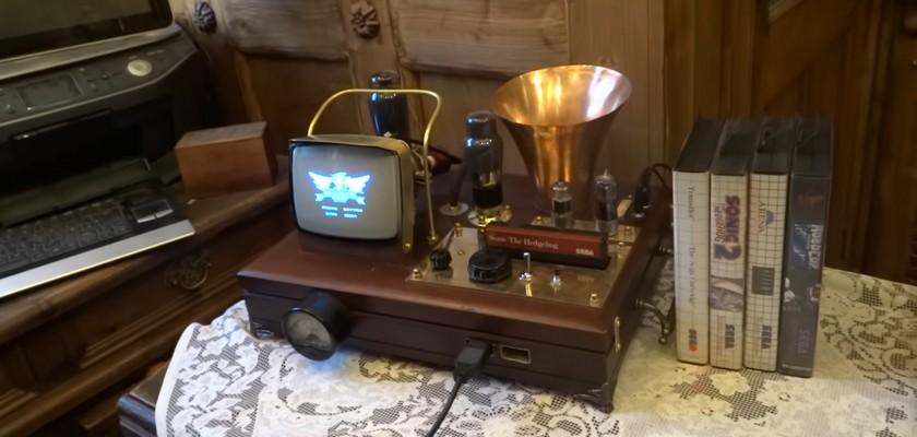 Un somptueux mod Steampunk sur Sega Master system II