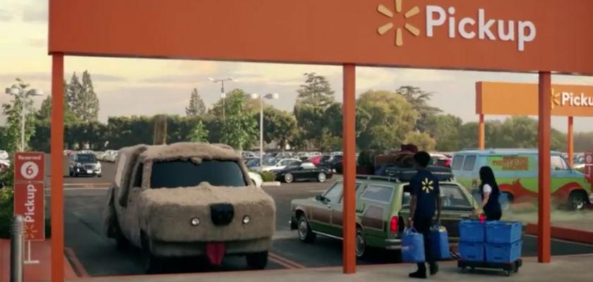 12 véhicules cultes dans la nouvelle pub Walmart