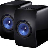 enceintes KEF LS50 Wireless noire / bleue