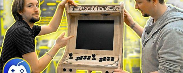 Borne arcade bartop DIY en chêne massif CNC