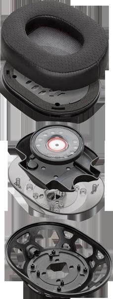 casque gaming Plantronics RIG 500 PRO - vue éclatée