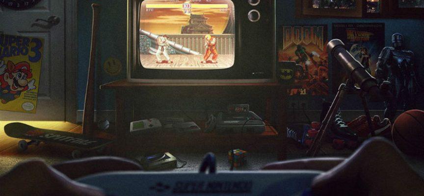 Un illustrateur vous replonge dans votre chambre de jeune gamer
