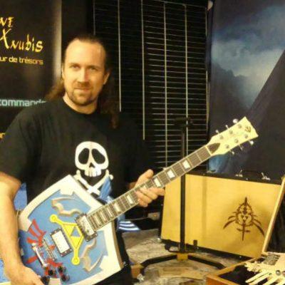 Guitare électrique Zelda Bouclier d'Hylia