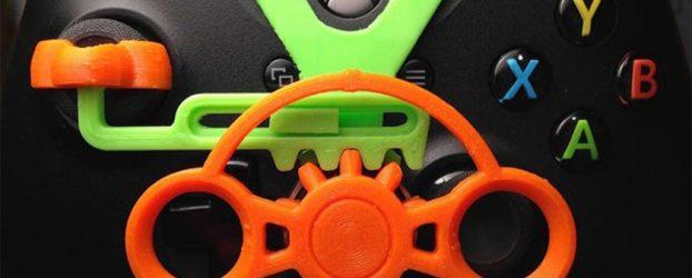 Un mini volant à clipser sur votre manette de jeu